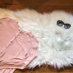 LOFT Pink Long Sleeve Cardigan